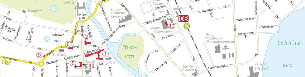 Kartenansicht von Oranienburg (September 2014)