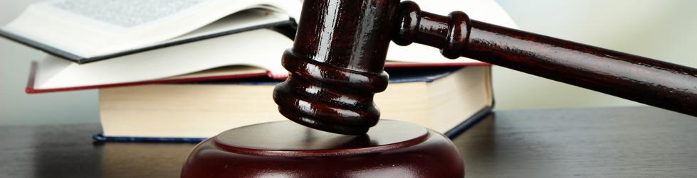 Gericht, Richterhammer Header