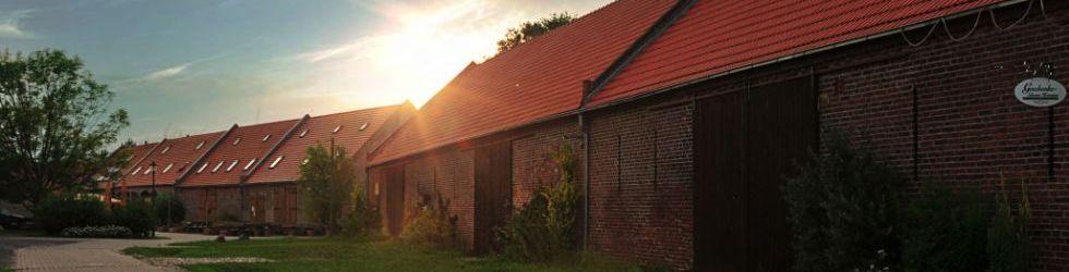 Sonnenuntergang im Kremmener Scheunenviertel