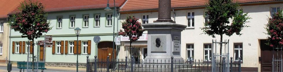 Liebenswertes Liebenwalde: Der Marktplatz, an dem auch das Rathaus steht