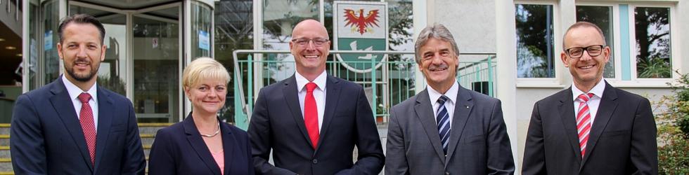 Landrat, Dezernentin und Dezernenten 15.08.2018