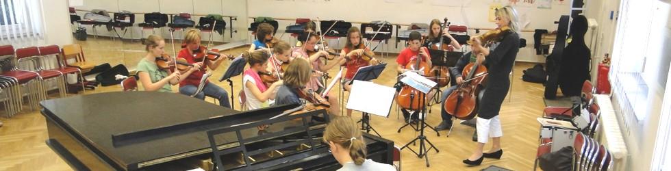 Orchesterunterricht an der Kreismusikschule
