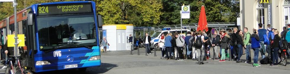 Bushaltestelle am Bahnhof Oranienburg