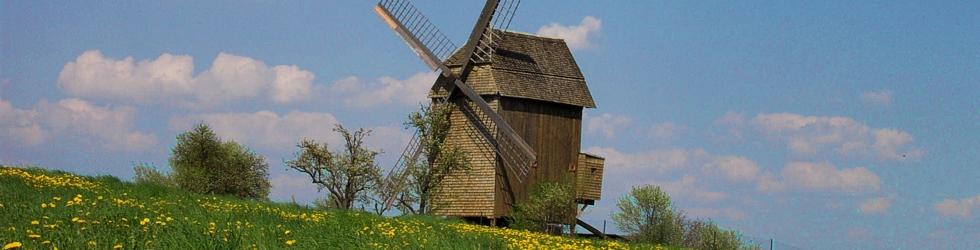 Die letzte erhaltene Bockwindmühle Oberhavels in Vehlefanz
