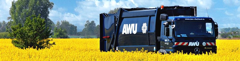 AWU-Auto im Rapsfeld