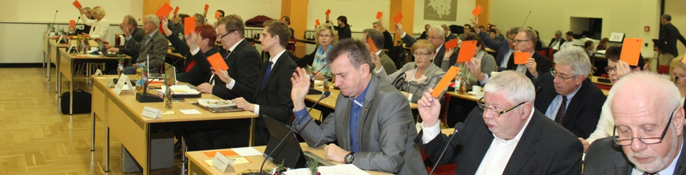 Abstimmung im Kreistag Oberhavel